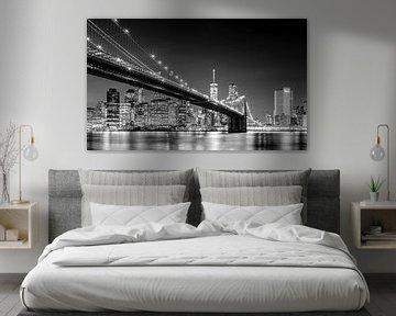 Brooklyn Bridge, New York (schwarz weiß) von Sascha Kilmer
