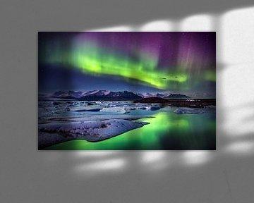 Noorderlicht boven IJsland