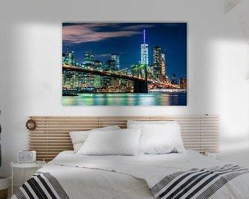 Brooklyn Bridge, New York City by night