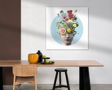 Zelfportret met bloemen (Daisy)