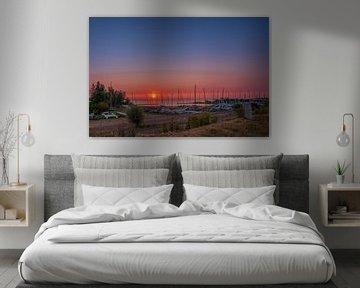 Zonsondergang catamaranstrandje van Marco Faasse
