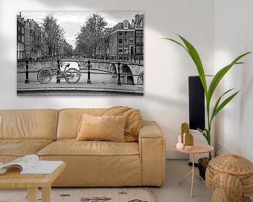 Grafisch Amsterdam Keizersgracht von Dennisart Fotografie