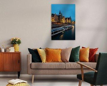 Graslei in Gent van Ward Van Houtte