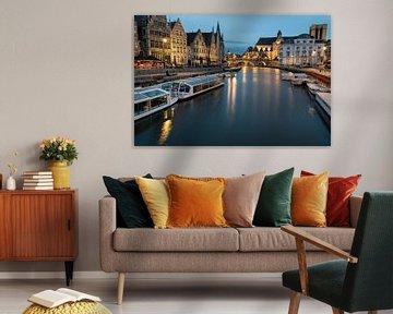 Avondbeeld in Gent centrum