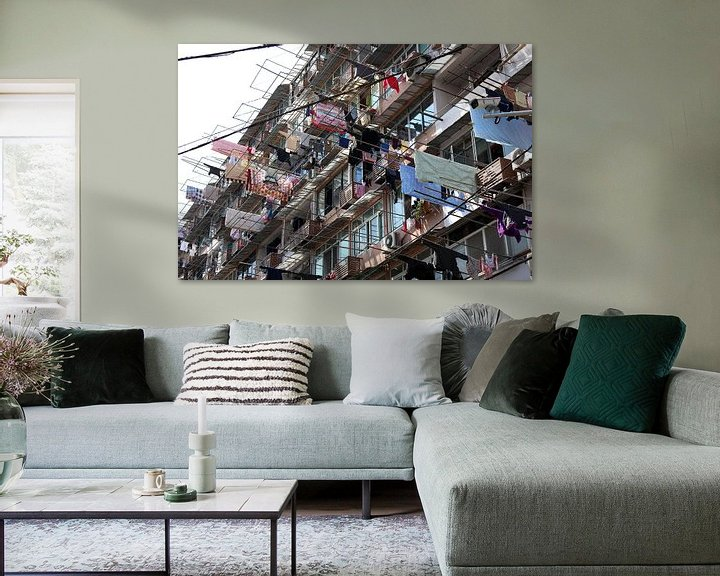 Sfeerimpressie: Was ophangen in Shanghai China van Ingrid Meuleman
