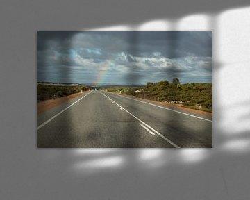 Regenbogen am Endes des Weges. sur Ingrid Meuleman