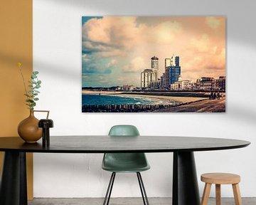 Avondrood boven de boulevard van Vlissingen van Art by Jeronimo