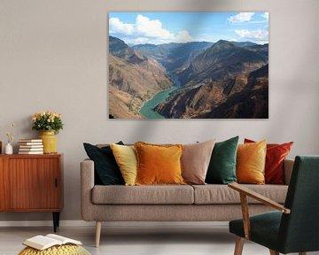 Jangtse durch die Berge von Yunnan, China von Ingrid Meuleman