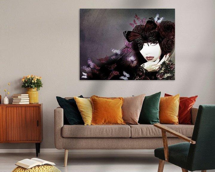 Impression: Lady with butterflies sur Dreamy Faces