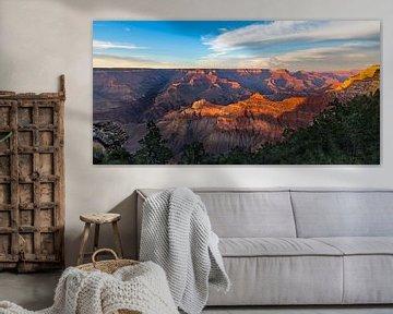 Coucher de soleil étonnant Panorama du Grand Canyon