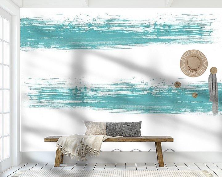 Sfeerimpressie behang: Text Art CHOOSE HAPPY van Melanie Viola