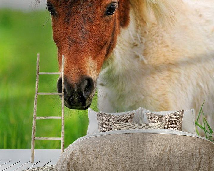 Sfeerimpressie behang: Pony poster van Atelier Liesjes