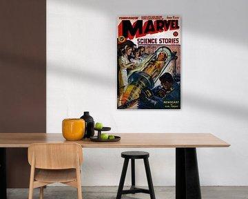 Marvel Comic-Buch Titelseite - Science-Geschichten