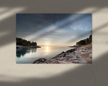 Sunrise at Hvar Island van Jeroen Middelbeek