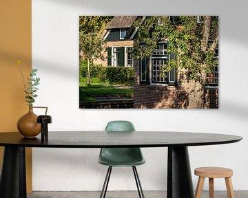 Attraktive Details des typischen traditionellen niederländischen Bauernhofes von Fotografiecor .nl