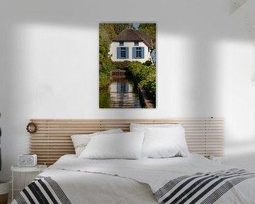 Rietgedekte Noord Nederlandse boerderij van Fotografiecor .nl