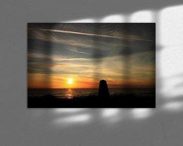 Sunset beach van Harry Kool