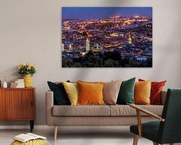 Abendblick über Fes, Marokko von Bert Beckers