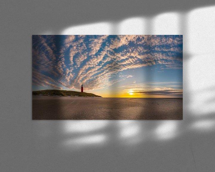 Sfeerimpressie: Vuurtoren Eierland Texel - zonsondergang van Texel360Fotografie Richard Heerschap