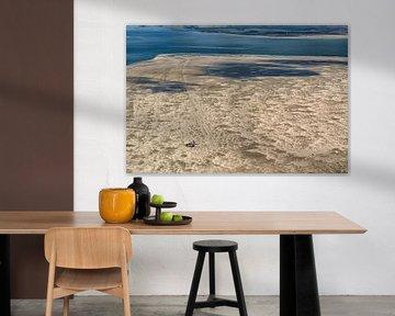 Sandewüste Vliehors von Vlieland mit Texel