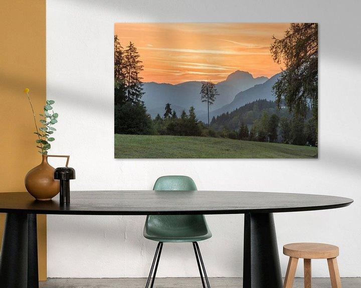 Beispiel: Zonsondergang in Oostenrijkse bergen von Rob IJsselstein