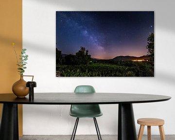 Melkweg en sterrenhemel boven de Provence