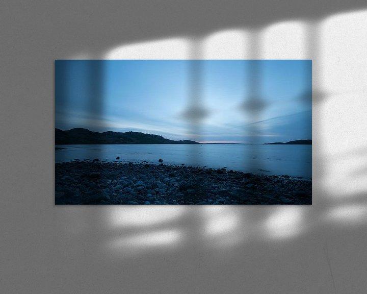Beispiel: Blauwe zonsondergang aan de Schotse westkust von Rob IJsselstein