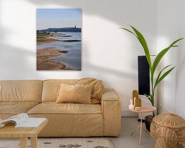 Uitzicht op de Waal, Nijmegen van Julia Wezenaar