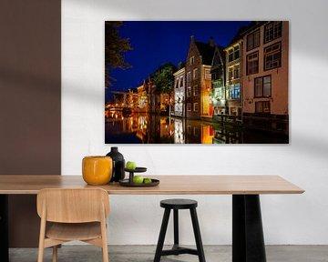 Mittelalterliche Häuser an den Kanälen in Alkmaar von Fotografiecor .nl