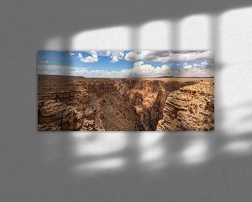 Panorama - De diepte van de Little Colorado Rivier