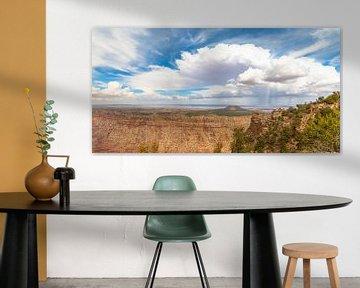 Regenschauer auf der Navajo-Ebene