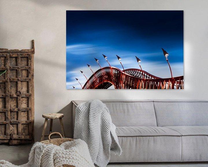 Sfeerimpressie: De Pythonbrug in Amsterdam van Dennis Van Den Elzen