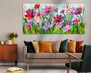 Blumengarten von Vrolijk Schilderij
