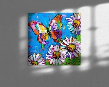 Schmetterling von Vrolijk Schilderij