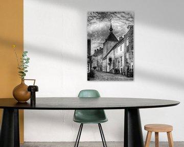 Dieb oder Plompetoren Muurhuizen historisch Amersfoort schwarz-weiß von Watze D. de Haan