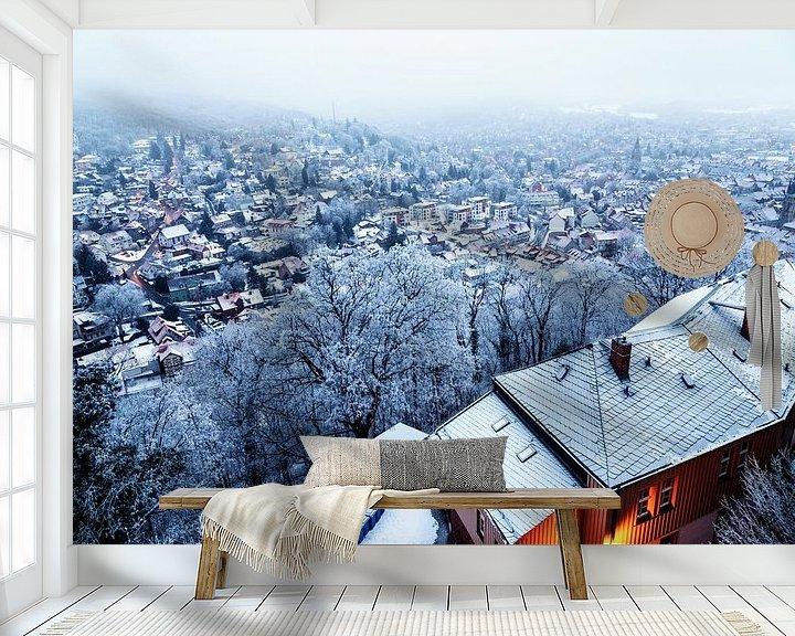 Beispiel fototapete: Wernigerode im Winter von Oliver Henze