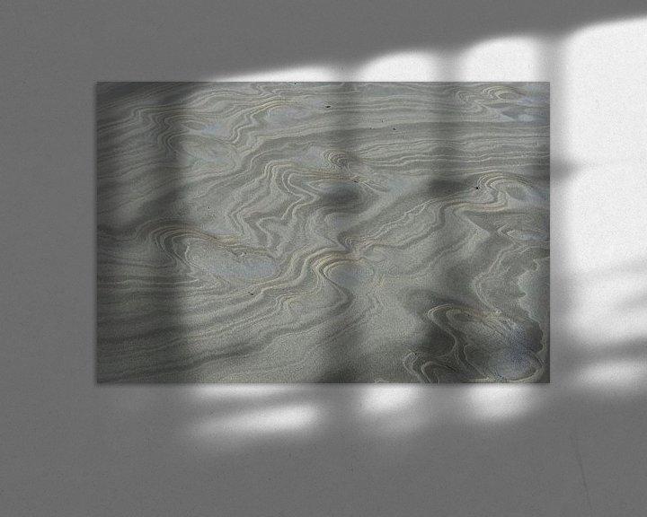 Beispiel: Ameland Küste, Strandzeichnung. von Anjo ten Kate