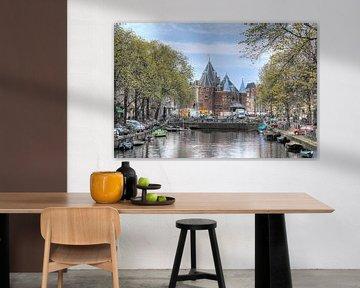 Amsterdam, Kloveniersburgwal, Waag van Tony Unitly