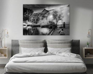 Ir. D.F. Woudagemaal in zwart-wit von Martien Hoogebeen Fotografie
