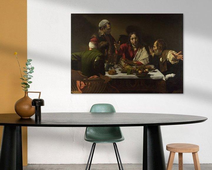 Beispiel: Das Abendmahl in Emmaus, Michelangelo Merisi da Caravaggio