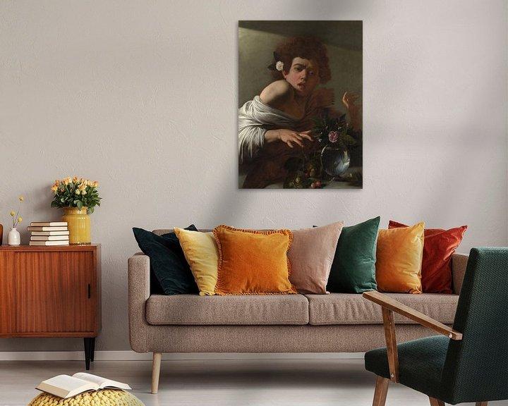 Beispiel: Jüngling, von einer Eidechse gebissen, Michelangelo Merisi da Caravaggio