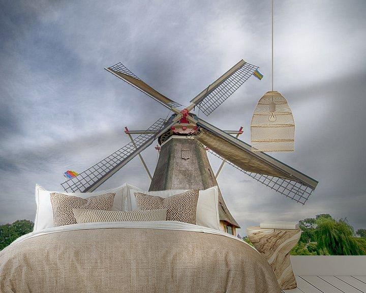 Sfeerimpressie behang: Reusachtige molen van Mark Bolijn