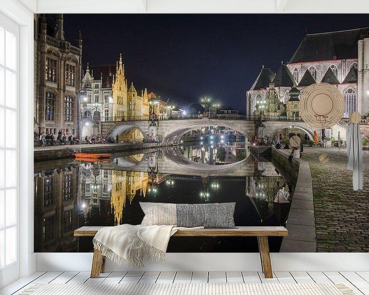 Sfeerimpressie behang: Betoverend Gent van Mark Bolijn