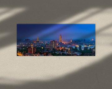 De skyline van de stad Groningen van Henk Meijer Photography