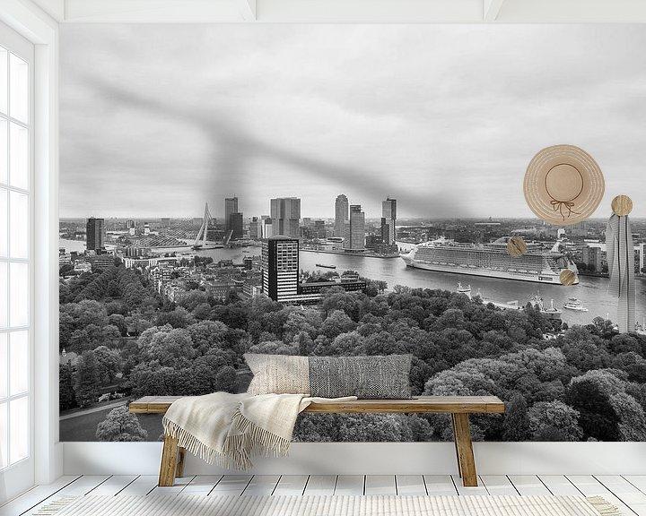 Sfeerimpressie behang: Het cruiseschip Harmony of the Seas in Rotterdam van MS Fotografie | Marc van der Stelt