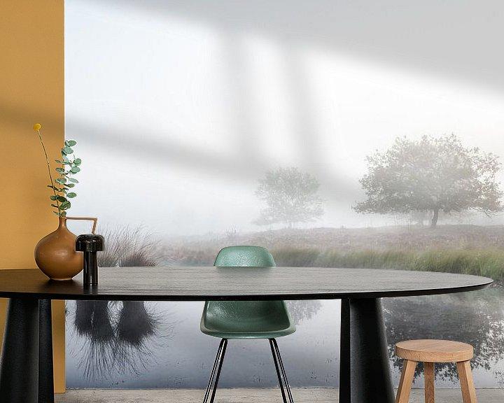 Sfeerimpressie behang: Mistige weerspiegelingen van Lex Schulte