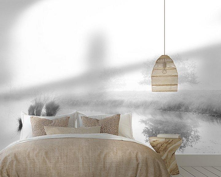 Sfeerimpressie behang: Mistige weerspiegelingen. #2 van Lex Schulte