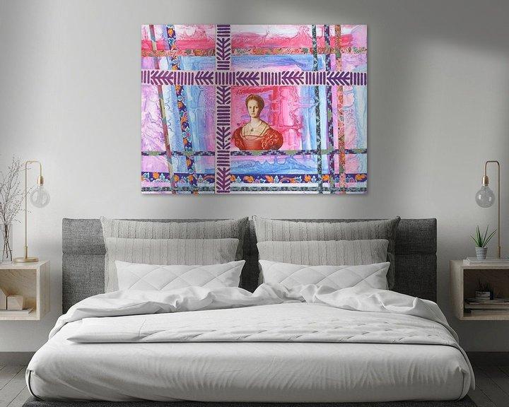 Beispiel: queen in pinks and blues von Hella Kuipers