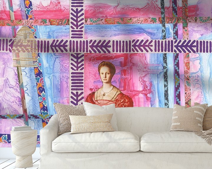 Beispiel fototapete: queen in pinks and blues von Hella Kuipers