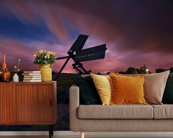 Sfeerimpressie behang: Tjonger na zonsondergang van Tara Kiers